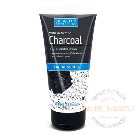 BEAUTY FORMULAS Charcoal sejas skrubis 150ml