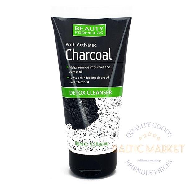 BEAUTY FORMULAS Charcoal Detox sejas tīrīšanas līdzeklis 150ml