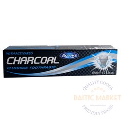 Toothpaste with fluoride and activated charcoal 125ml