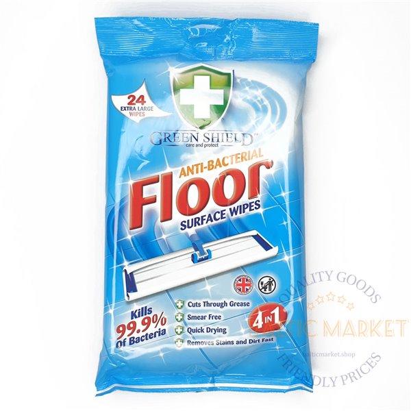 """""""Green Shield"""" Põranda puhastuslapid 24 tk"""