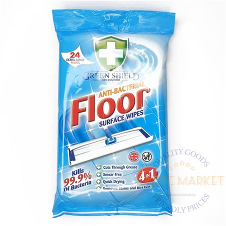 """Green Shield"" Floor surface wipes 24 pcs"