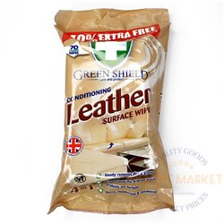 Green Shield Leather surface wipes 70 pcs