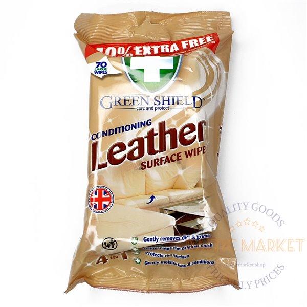 Green Shield Leather salvrätikud nahkpindade puhastamiseks -70 tk.