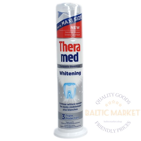Theramed Whitening - Triple Protection - toothpaste dispenser  100ml