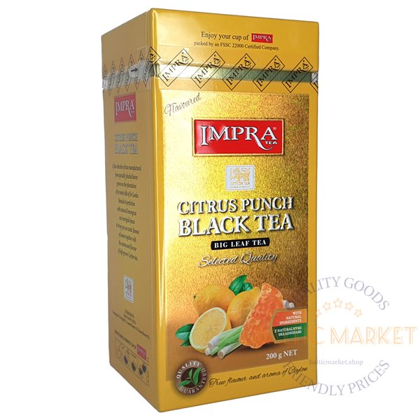 Impra citrus punch black tea 200gr