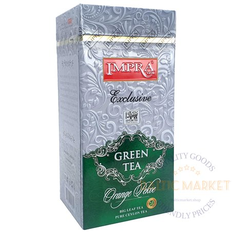 Импра чай зеленый exclusive orange pekoe 200 гр