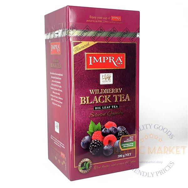 IMPRA melnā tēja meža ogu 200 g