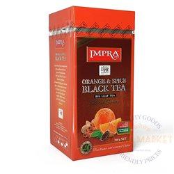 IMPRA ORANGE & SPICE melnā tëja ar apelsīnu gabaliņiem 200g