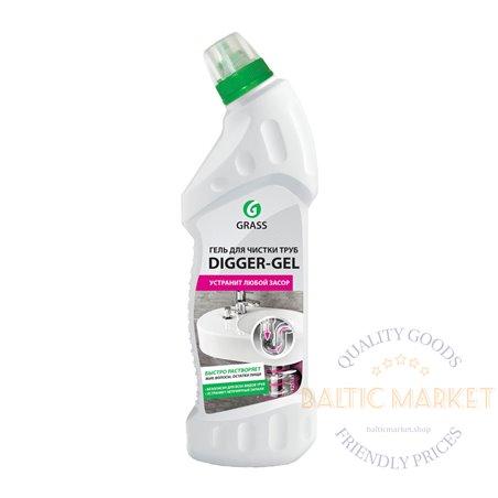 DIGGER-GEL - kanalizacijos vamzdžių valiklis - 750 ml