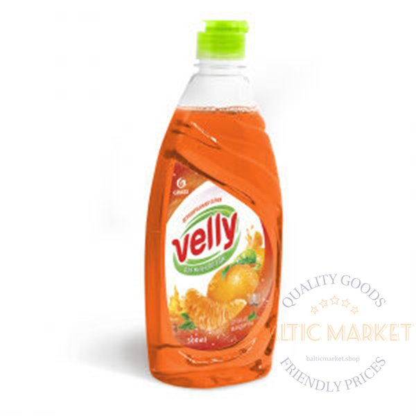 """Trauku mazgājamais līdzeklis """"Velly"""" mandarīns- 500 ml"""
