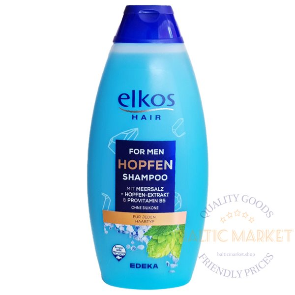 Elkos shampoo for men with hop extract and sea salt 500ml