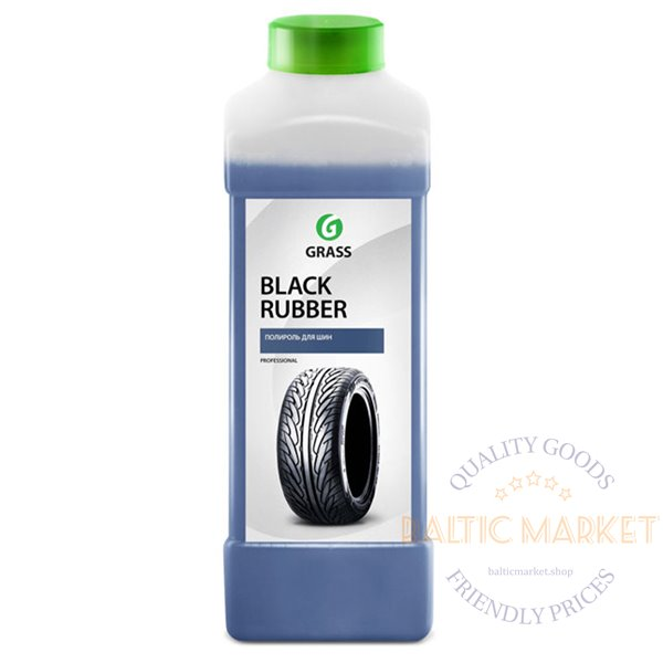 Black Rubber 1:3 rubber car parts cleaner and protection agent 1 liter