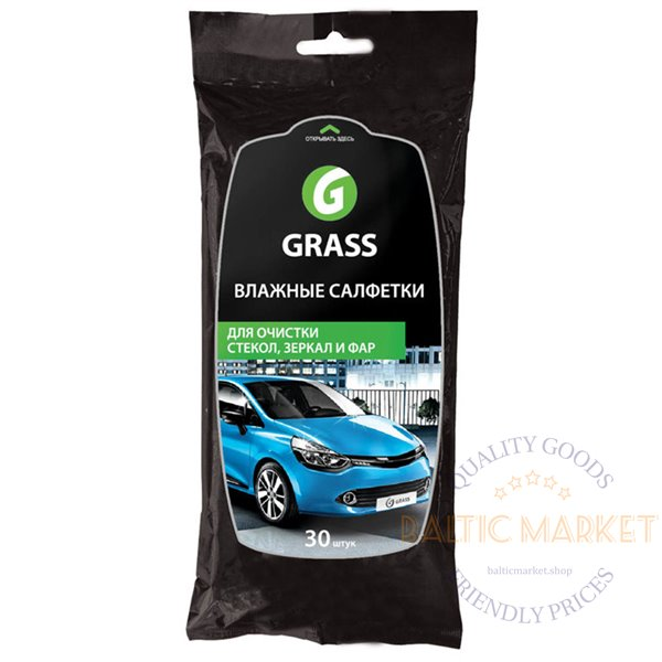 Wet Wipes For Window for cleaning mirrors, glass and headlights 30 pcs.