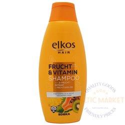 Elkos šampūns ar augļu ekstraktiem un vitamīniem Frucht Vitamin 500 ml