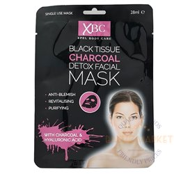 Black Tissue Charcoal kokogles sejas maska 28 ml