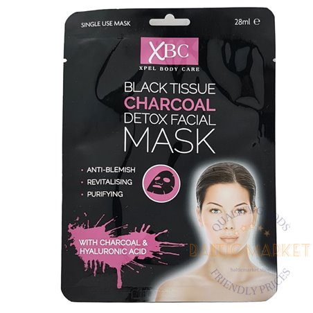 Black Tissue Charcoal anglies veido kaukė 28 ml
