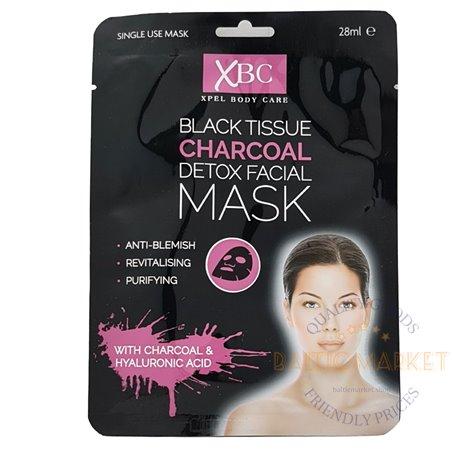 Black Tissue Charcoal угольная маска для лица 28 мл