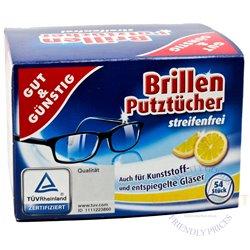 Niisked salvrätikud prillide puhastamiseks 52 tk. G&G