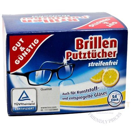 Drėgnos servetėlės akinių stiklų valymas 52 vnt. G&G