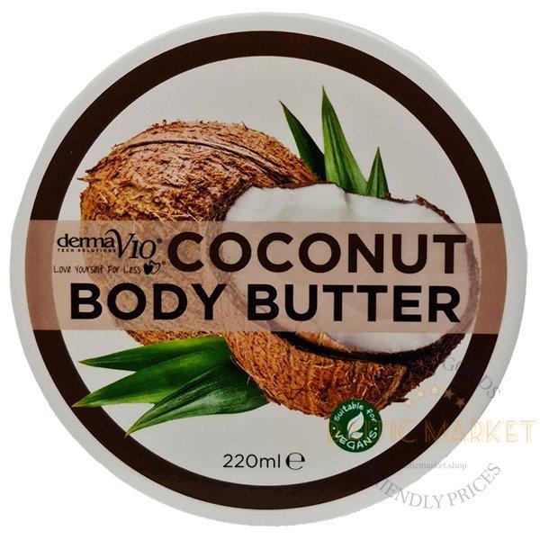 Derma V10 масло для тела с кокосом 220 мл