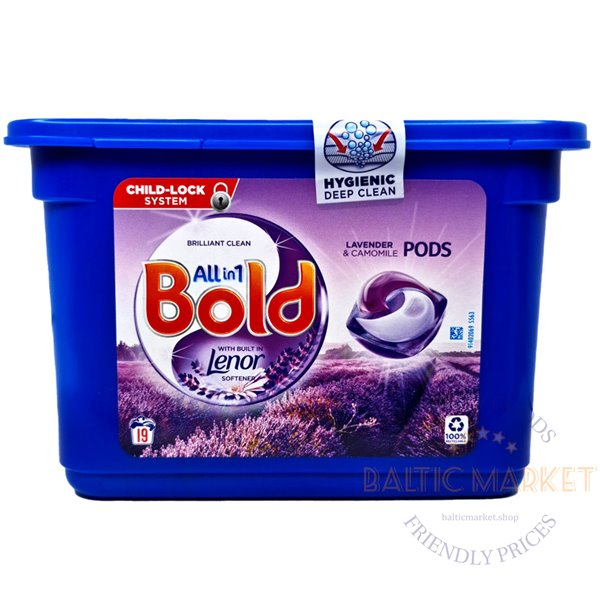 Bold All in One капсулы для стирки Лаванда 19 шт.