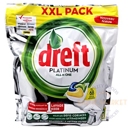 Dreft dishwashing capsules Platinum All in One Citron 68 pcs.