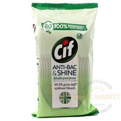 CIF antibakterinės servetėlės 80 vnt.