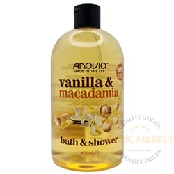 Anovia dušigeel ja vannivaht vanilla macadamia 500 ml