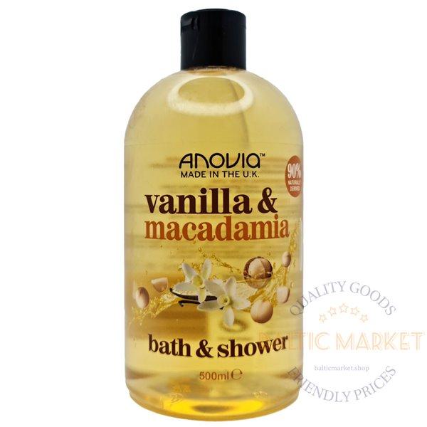 Anovia гель для душа и пена для ванн vanilla macadamia 500 ml