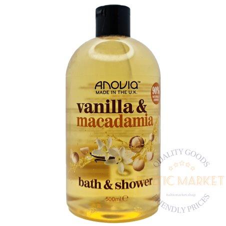 Anovia dušo želė ir vonios putos vanilla macadamia 500 ml