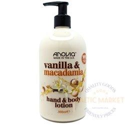 Anovia kreem kehale ja kätele vanilla macadamia 500 ml