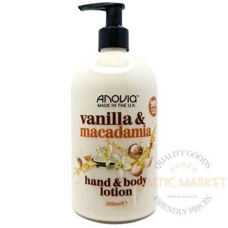 Anovia losjonas kūnui ir rankoms  vanilla macadamia 500 ml
