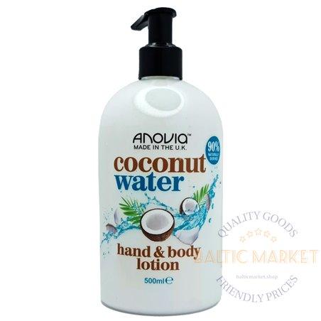 Anovia kreem kehale ja kätele coconut water 500 ml