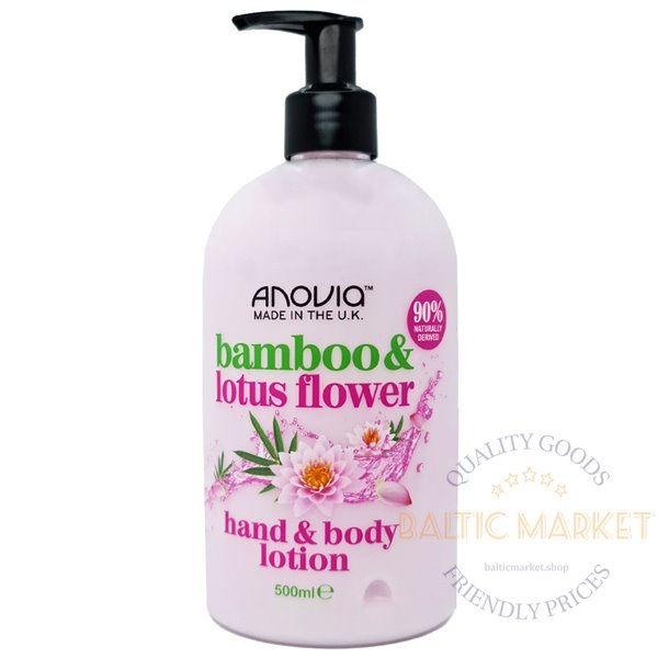 Anovia hand and body lotion bamboo lotus flower 500 ml