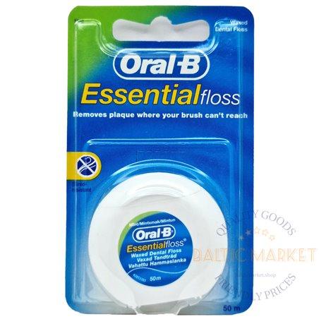 Oral-B зубная нить с воском 50 m