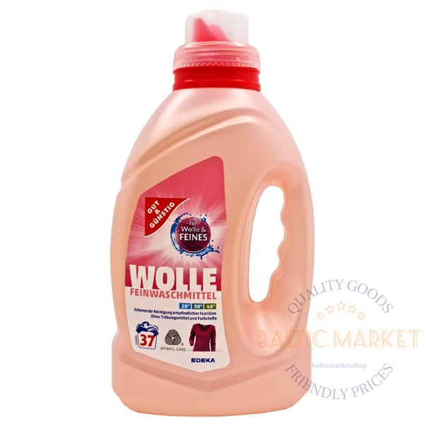 Wolle laundry detergent for delicate fabrics 1,5l, 37 wash.