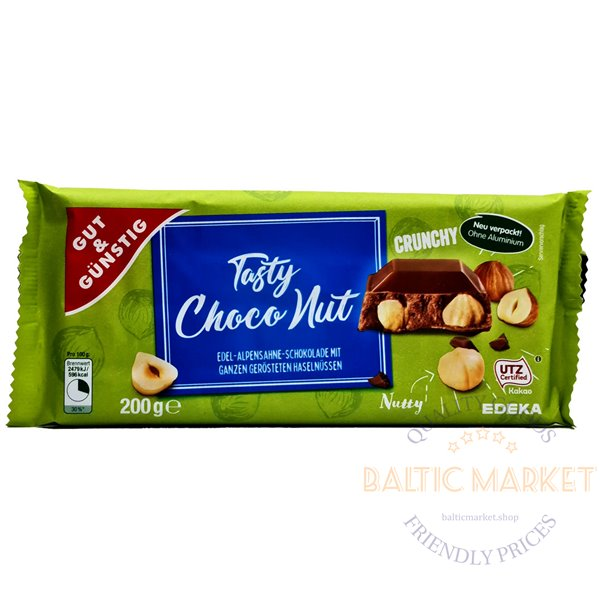 Edeka chocolate with hazelnuts 200 gr