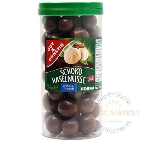 Edeka lazdyno riešutai pieniniame šokolade 200 gr