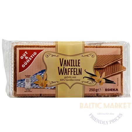 Edeka vafeles ar vaniļas krēma pildījumu 250 g