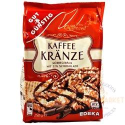 Edeka sausainiai su šokoladu Kaffee Kranze 250 g