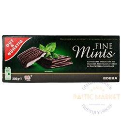 Edeka šokolado plytelės su mėtų skoniu 300 g
