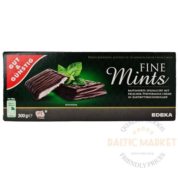 Edeka шоколадные плитки со вкусом мяты  300 g