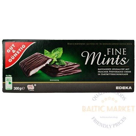 Edeka chocolate bars with mint flavor 300 g