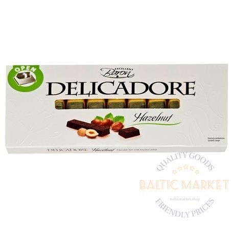Exellent Baron DELICADORE шоколад с начинкой из орехового крема 200 гр
