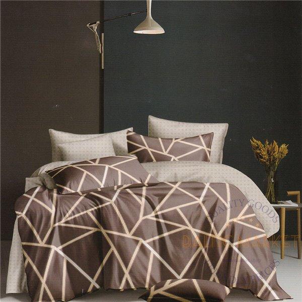 Cotton satin bed linen complex 160x200, 4 parts (CT105)