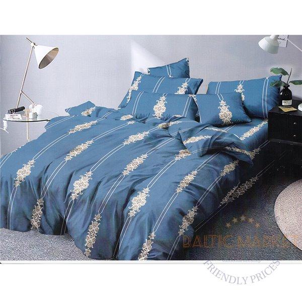 Puuvillasatiinist voodipesukompleks 160x200, 4 osa (CT106)
