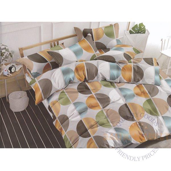 Cotton satin bed linen complex 160x200, 4 parts (CT112)