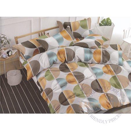 Комплект постельного белья хлопок сатин 160х200, 4 части (CT112)