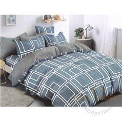 Cotton satin bed linen complex 200x220, 4 parts (CT119)