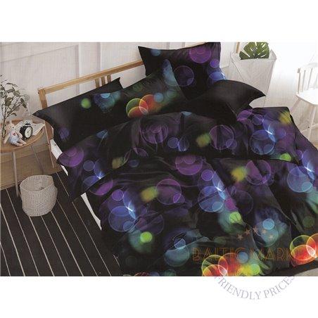 Cotton satin bed linen complex 200x220, 4 parts (CT120)